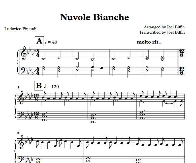 NUVOLE BIANCHE  AL PIANOFORTE!